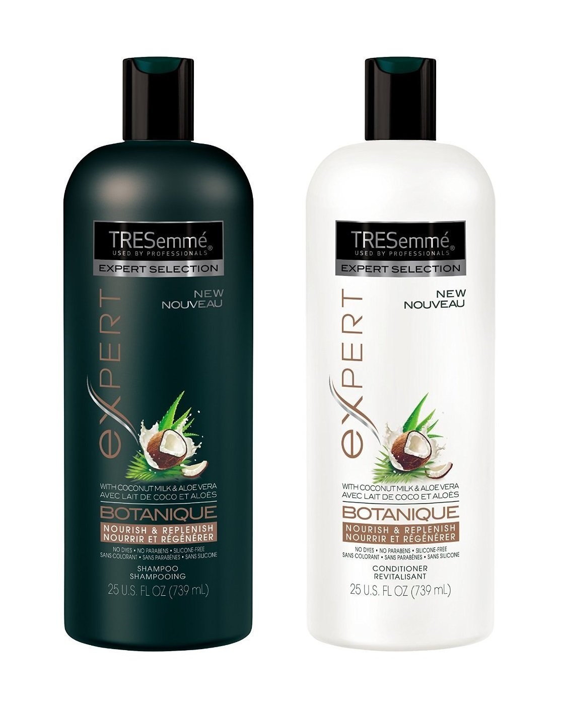 TRESemme Botanique Nourish and Replenish, Shampoo and Conditioner Duo Set 25 Ounce Bottles by TRESemme