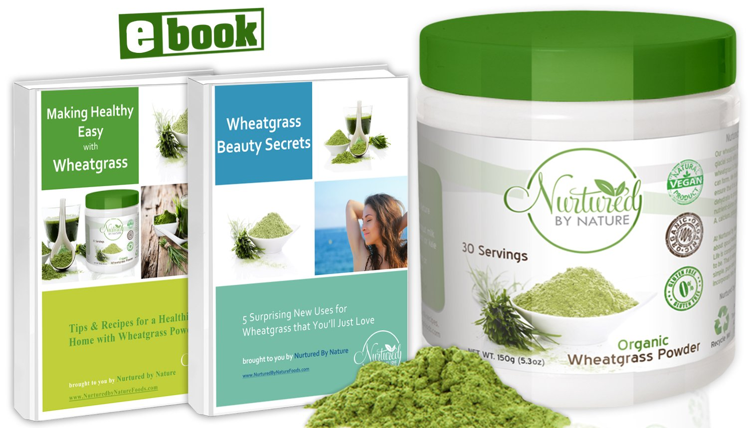 Nurtured by Nature Foods- Premium and 100% Organic Wheatgrass Powder