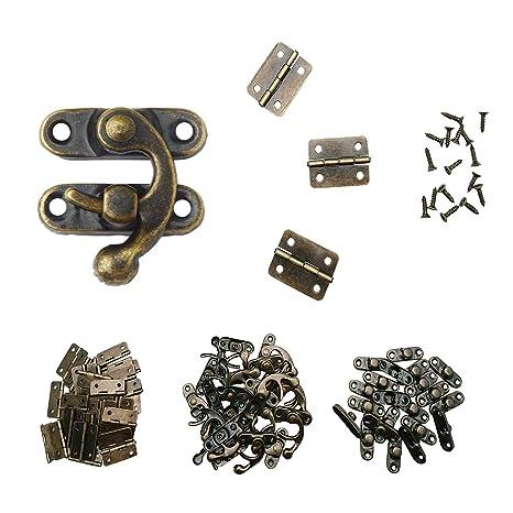 Amazon.com: Manshu 40 piezas pequeñas bisagras de caja, 20 ...