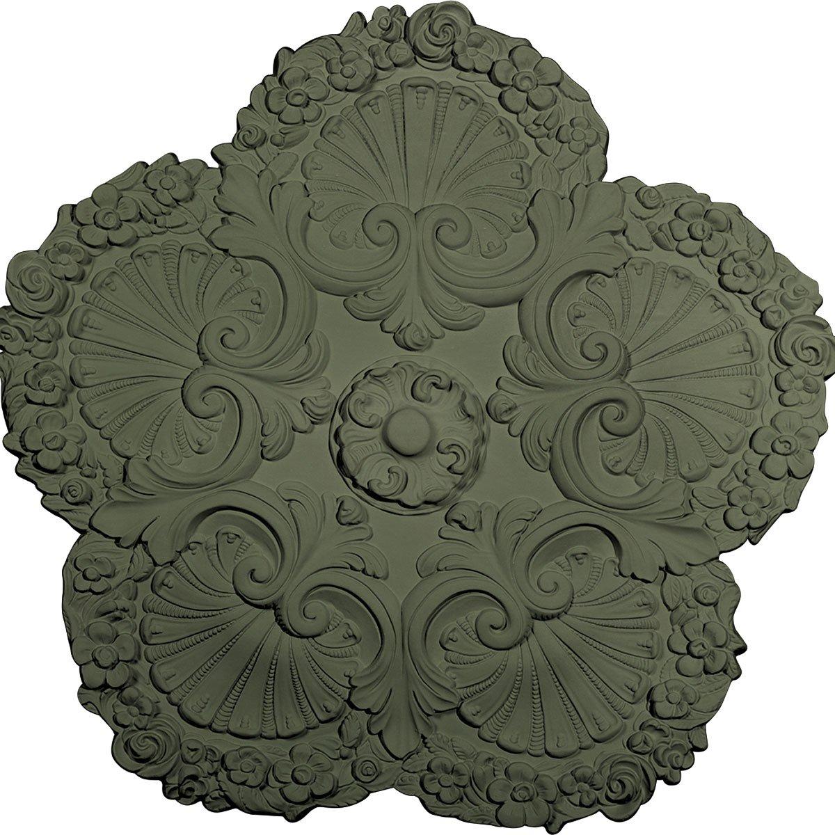 Ekena Millwork CM25SHAGF 25 5/8'' OD x 1'' P Shell Ceiling Medallion, Athenian Green