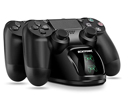 ECHTPower PS4 Controller Charger PS4 Charging Dock, Dual Charger with Charging Status Display Screen for Playstation 4 Dualshock 4 / PS4 Slim / PS4 ...