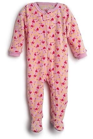 defc575b5 Amazon.com  Elowel Baby Girls Footed dogfood Pajama Sleeper Fleece ...