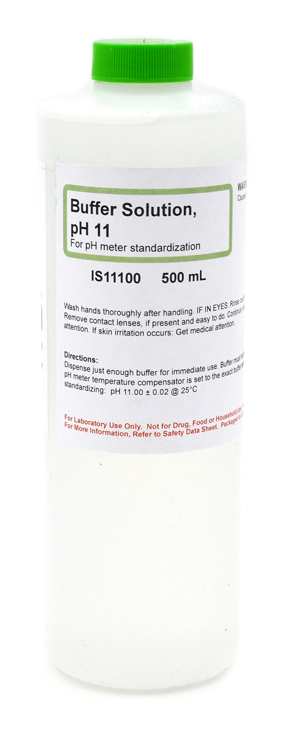 Standard Buffer Solution, pH 11, 500mL - The Curated Chemical Collection