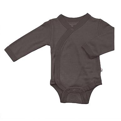 f400ea216 Babysoy Organic Long Sleeve Modern Solid Kimono Bodysuit/Onesie (0-3 Months,