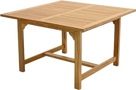 Table haute qualité en Premium Bois de Teck/120 x 120 cm ...
