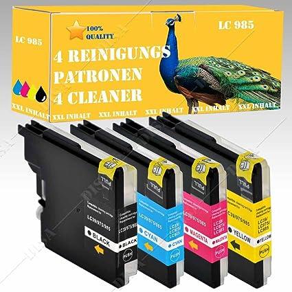 4 x Cartuchos de limpieza Set Cleaner compatible con Brother ...