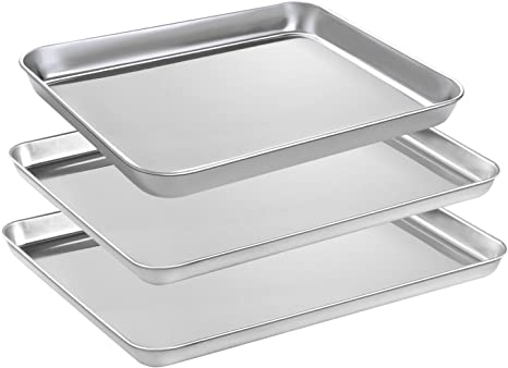 HaWare Stainless Steel Baking Sheet –Rimmed Pan Baking Baking Tray Set of 4
