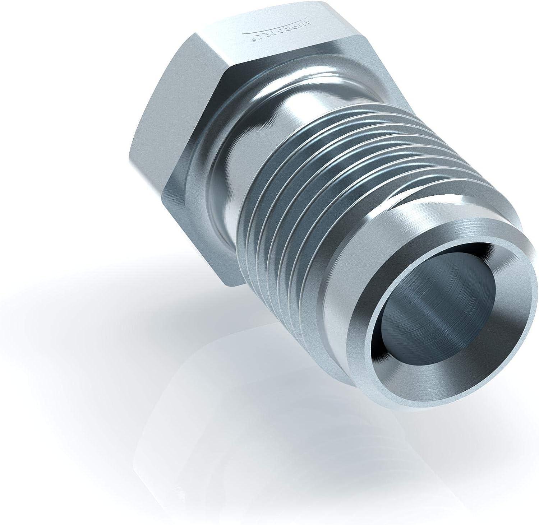 100x Verschraubung M10 x 1 f/ür Bremsleitung 4,75 mm B/ördel E Typ D Profi Verbinder DIN//ISO 1651 konform