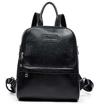 BOSTANTEN Women Genuine Leather Backpack Rucksack Ladies Casual ...