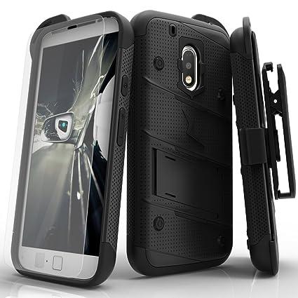Amazon.com: Motorola G4 Play caso, Zizo [Bolt Series] W/Free ...