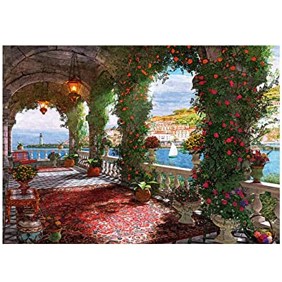 1000 Piece Jigsaw Puzzle for Adult Kids- Rose Corridor/Romantic Venice/Deer in The Forest - Hand Made Puzzles Decompression Game Difficulty Funny (Rose Corridor): Toys & Games