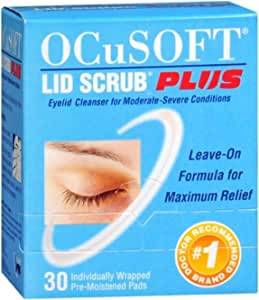OCuSOFT Plus Eyelid Cleanser Pads 30 Each (Pack of 4)