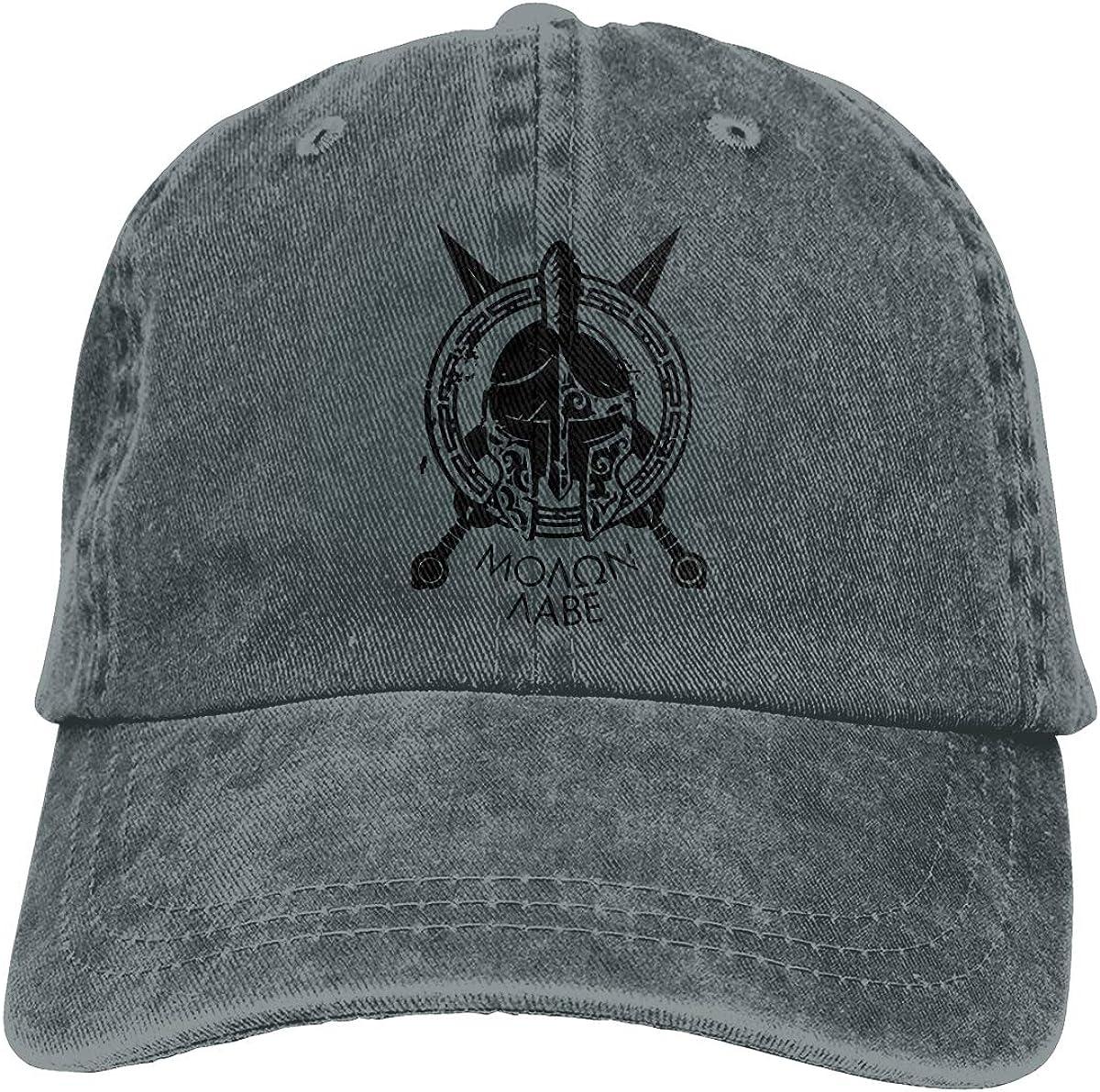 Spartan Molon Labe Military Adjustable Cotton Sunbonnet Plain Hat Baseball Cap Casquette