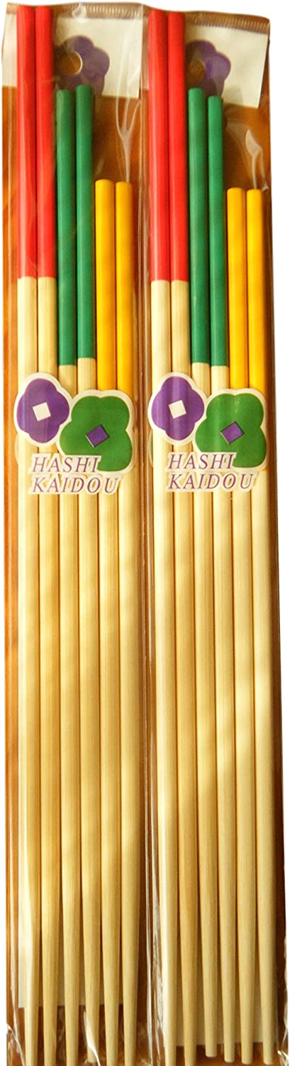 Long chopstick SAIBASHI cooking chopstick13in,11.8in,10.6in,3sets×2packs.Oil dishes Fried food.