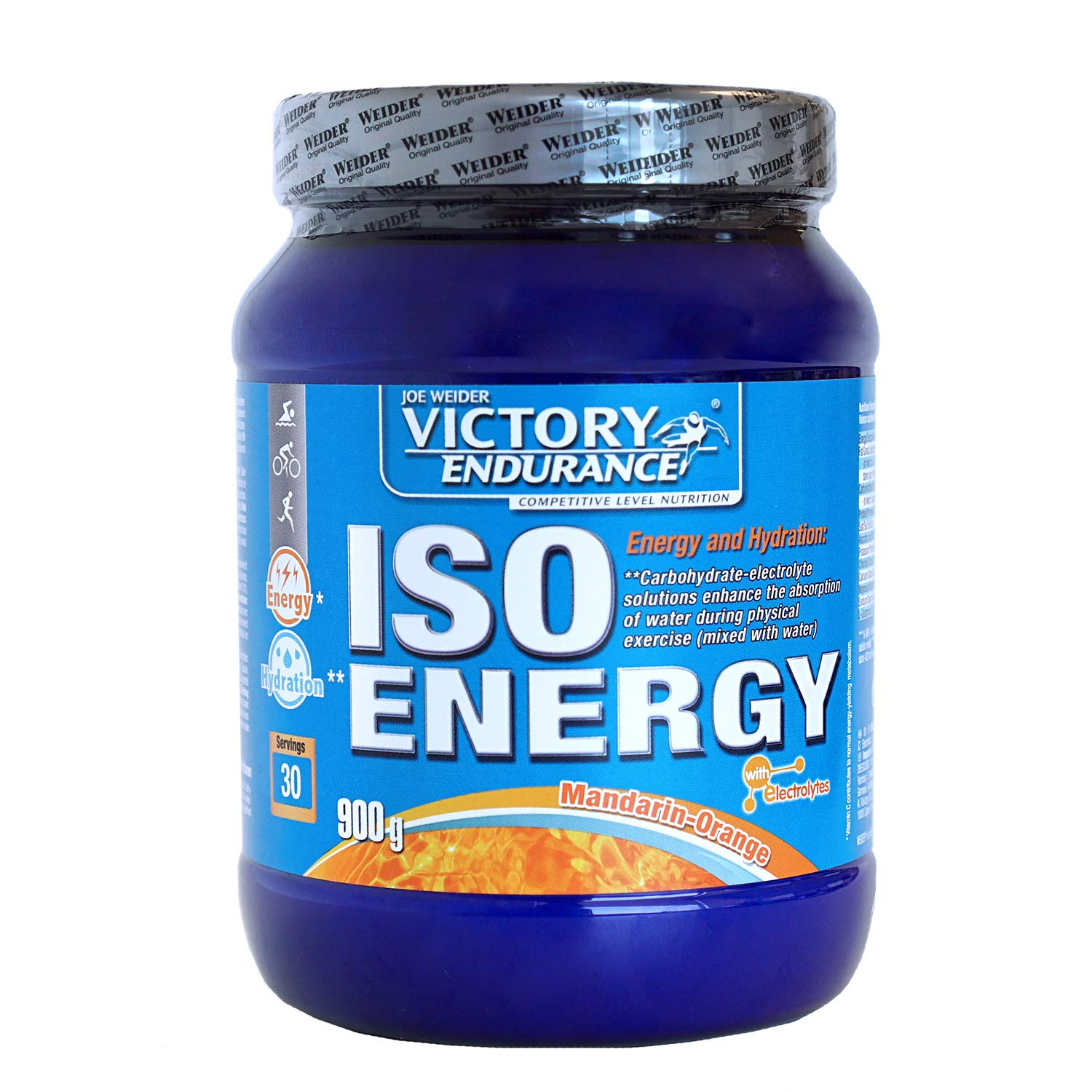Victory Endurance Iso Energy Orange Tangerine 900g. Fast energy and hydration with extra mineral salts and enriched with Vitamin C