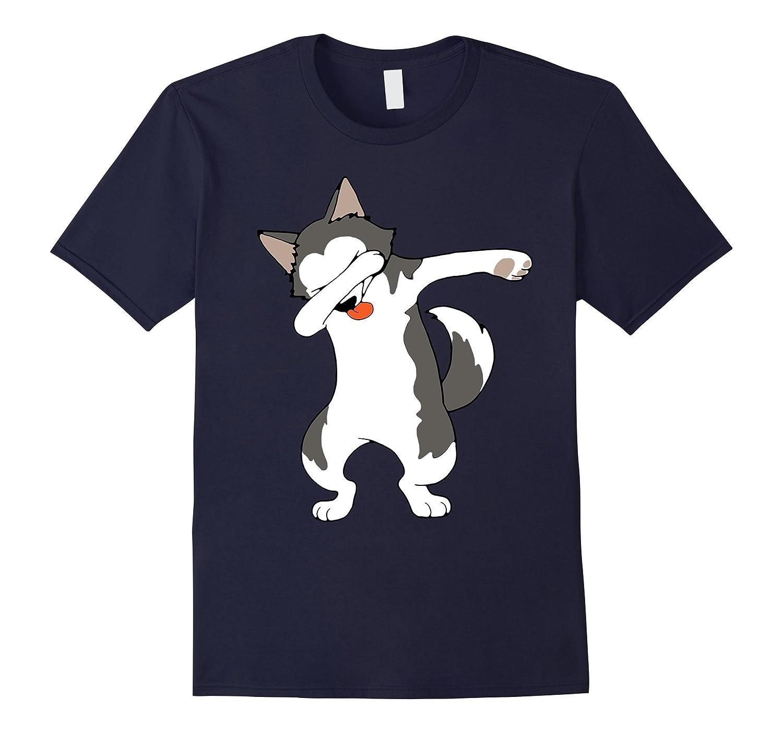 Dabbing Husky Funny Shirt Dab Hip Hop Dabbing Dog-PL