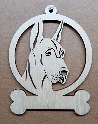 Great Dane Wooden Ornament