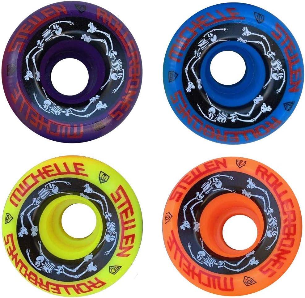 Designed in Partnership with Moxi Skates 4 Pack RollerBones ESTRO JEN Bowl Bombers Quad Roller Skate Wheels
