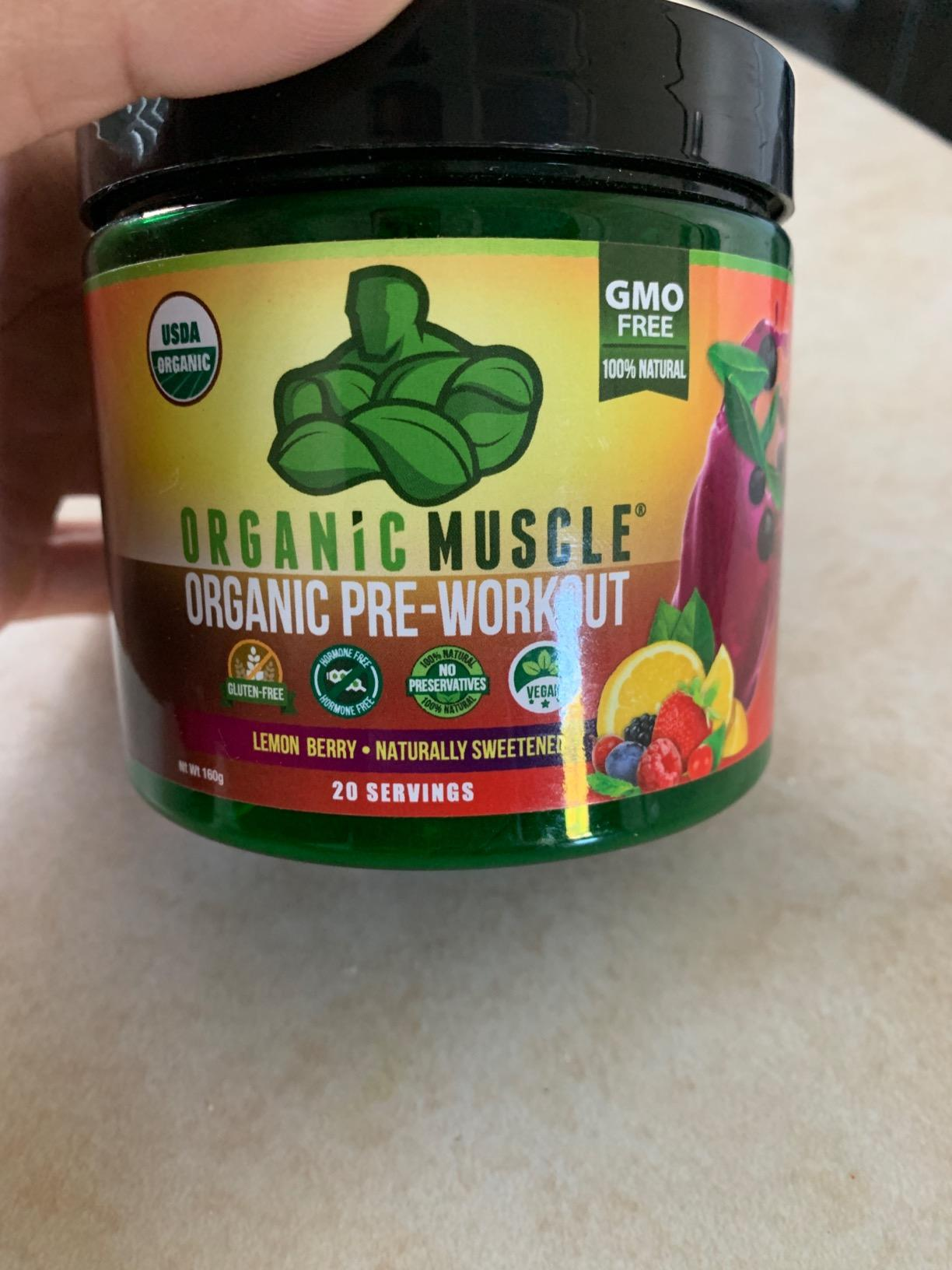 USDA Certified Organic Pre-Workout - Lemon Berry Flavor