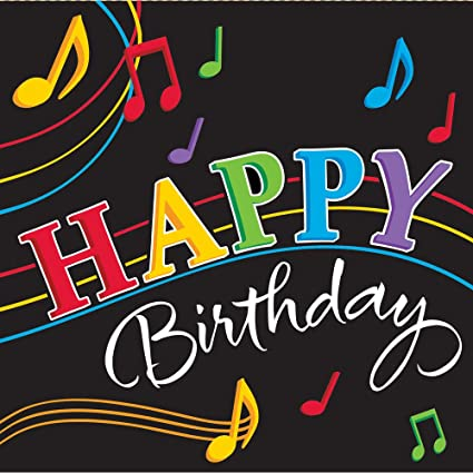Amazon Dancing Music Notes 65 Lunch Napkin 3 Ply 16 Happy Birthday Party Supplies Toys Games