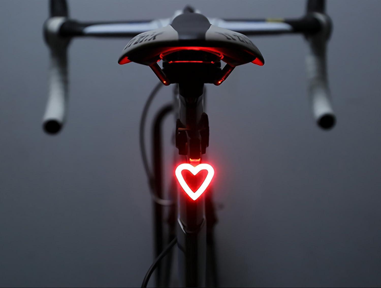 FreeMaster, fanale posteriore per bici, a LED, ricaricabile tramite porta USB, impermeabile, colore rosso, Circle, one size fit all UKSP0042