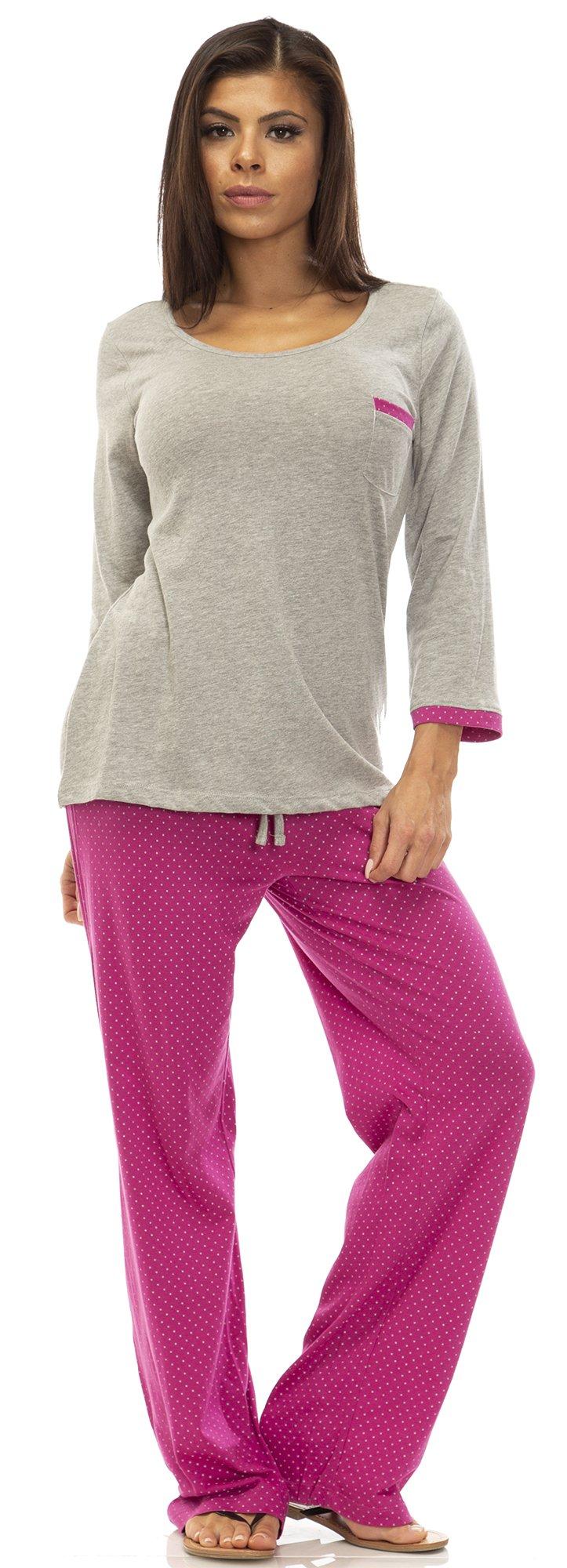 IZOD (6455AZ) Womens Womens 100% Cotton High Low Tee Pajama Lounge Set Size: Medium in Grey (020)