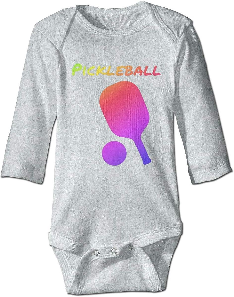 Marsherun Infant Babys Boys Girls Neon Pickleball Long Sleeve Bodysuits Playsuit