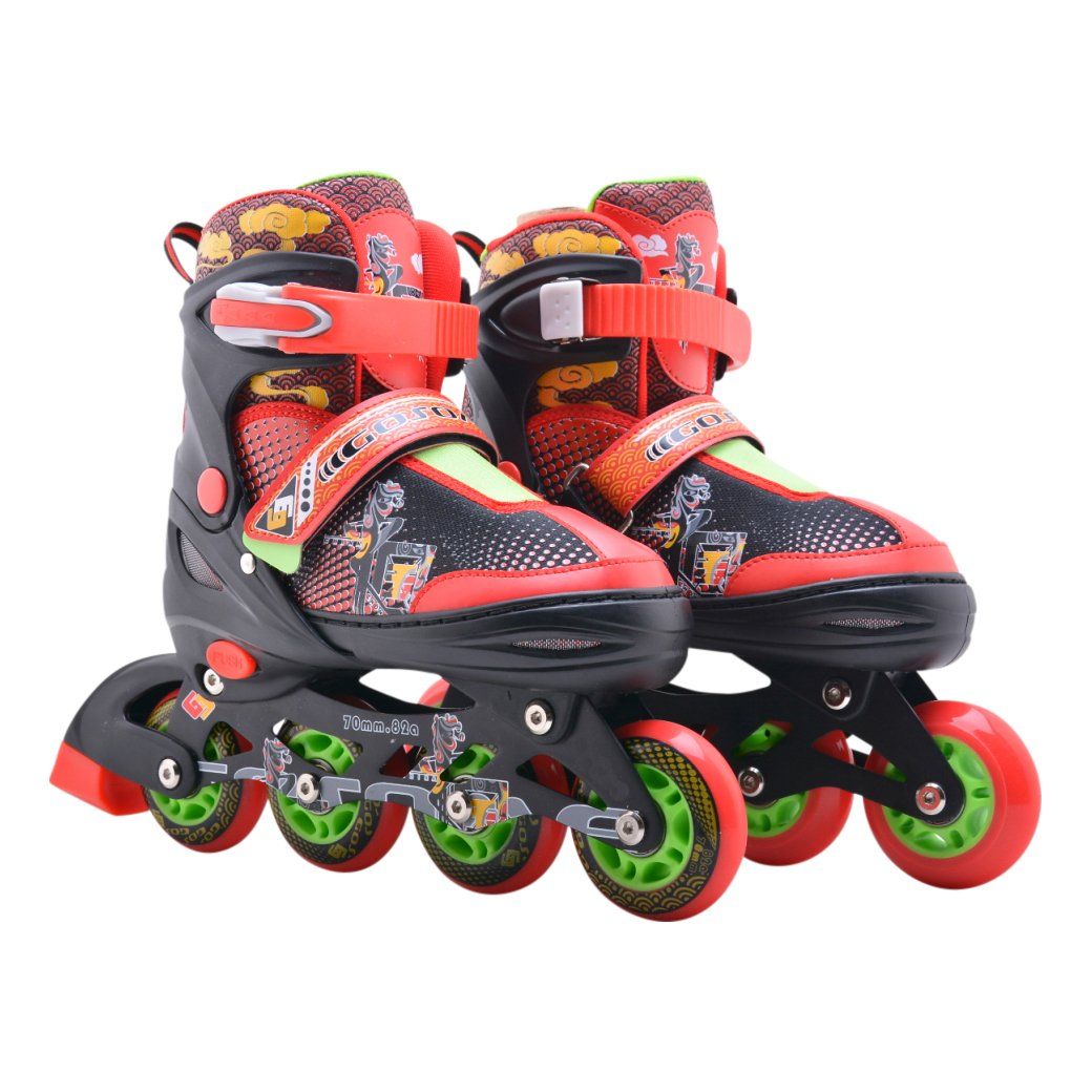 72beab935d8442 Pattini in linea farfalla colorata per bambini e adulti - Luminous rollo  anteriore - Taglia regolabile