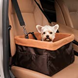 Pet Booster Seat,WOpet Deluxe Portable Pet Booster Car Seat with Clip-On Safety Leash and Storage Pocket Perfect for Small and Medium Pets up to 20 lbs