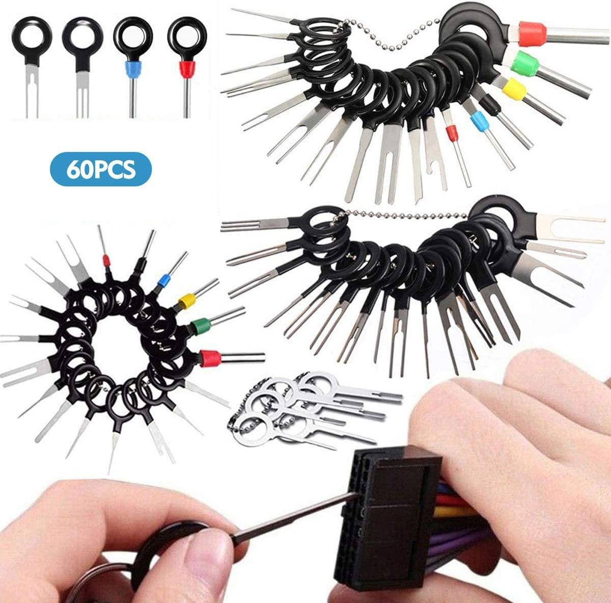 70Pcs Set Pin Ejector Wire Kit Extractor Auto Terminal Removal Connector Puller