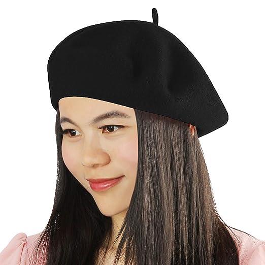 30de2b2b23487 Acecharming Womens French Style Beret Wool Beanie Hat Cap