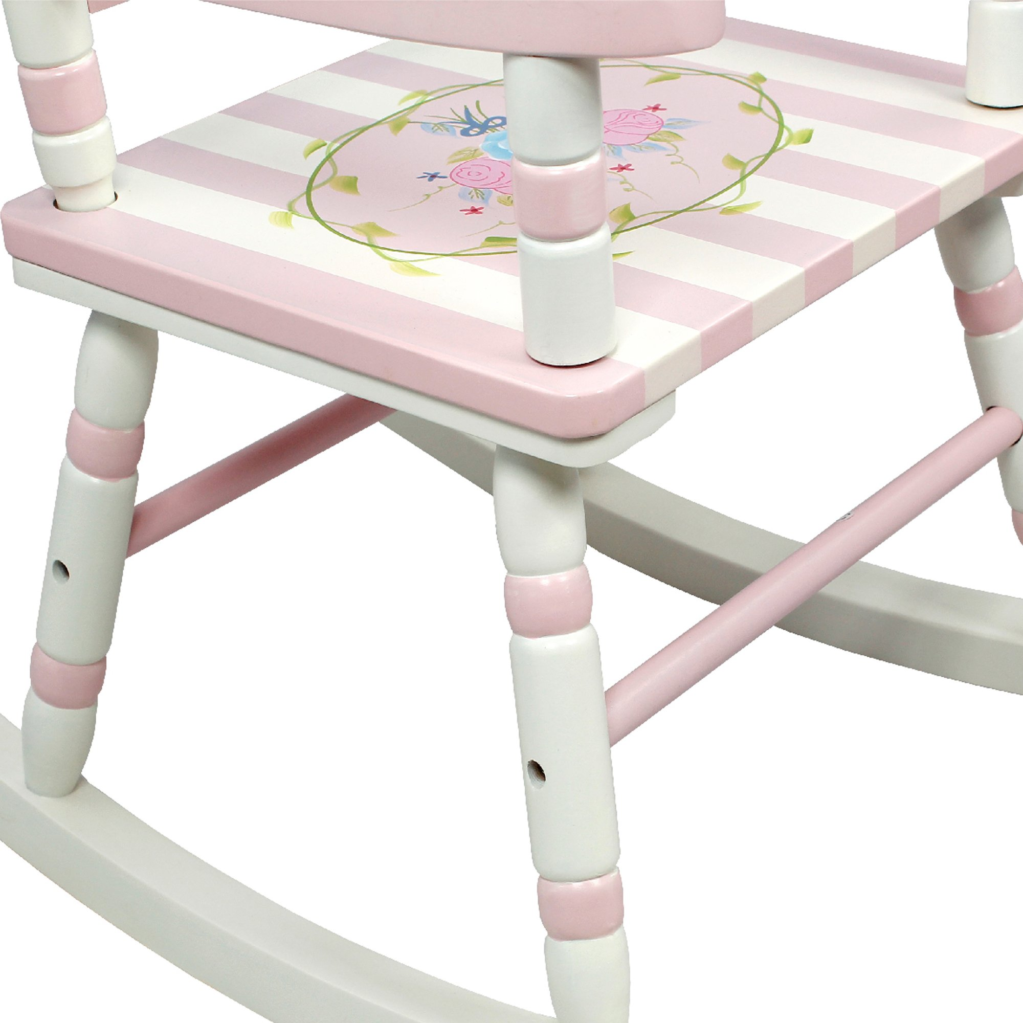 Teamson Design Corp Fantasy Fields - Bouquet Thematic Kids Wooden Rocking Chair Imagination Inspiring Hand Crafted & Hand Painted Details Non-Toxic, Lead Free Water-based Paint by Teamson Design Corp (Image #7)