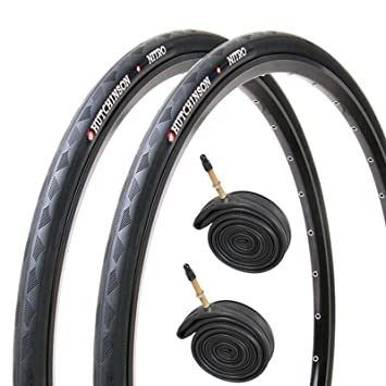 2x Hutchinson Nitro 2 Black Road Bike Tyres 700 x 23c PAIR
