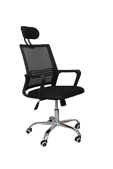 Starry Night Mesh High Back Executive Swivel Desk Chair Armrest with Chrome Base - Black
