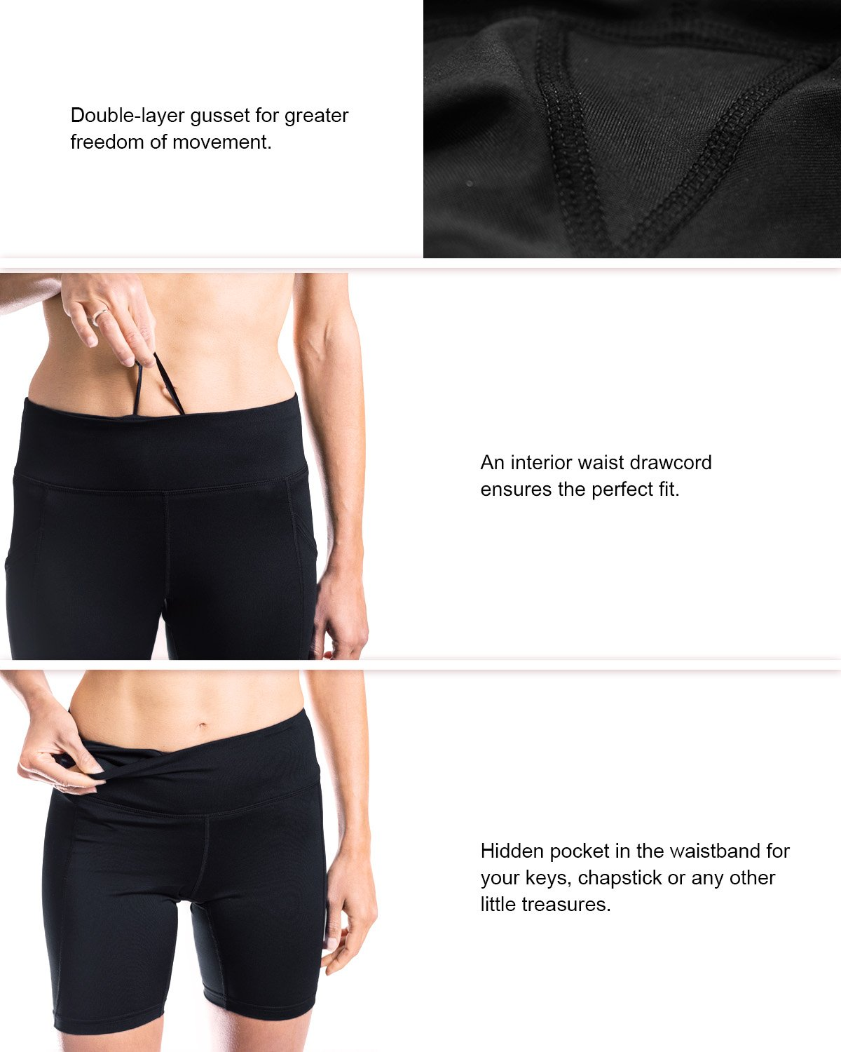 Yogipace Womens Uv Protection Side Pockets 7 Golf Wiring Schematicit Shortsi Put The Positive Battery Cable On Compression Shorts Bike Workout Gym Sports Outdoors