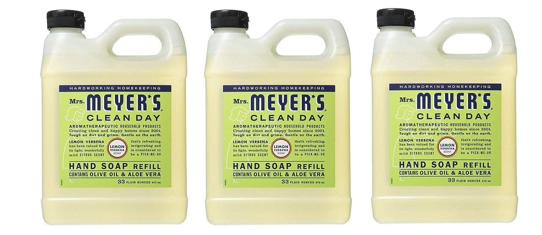 Earth Friendly, Mrs. Meyers Liquid Hand Soap Refill, 33 Oz, Lemon Verbena Scent, Pack of 2 S C Johnson Wax SPRROL1119