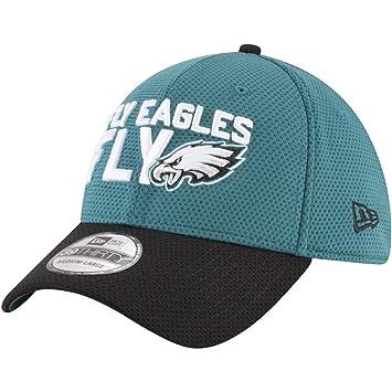 ce1bd1742 New Era 39Thirty Cap - NFL 2018 DRAFT Philadelphia Eagles  Amazon.co ...