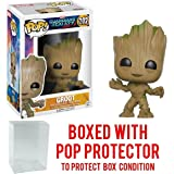 Funko Pop! Marvel: Guardians of the Galaxy Vol. 2 - Toddler Groot Vinyl Figure (Bundled with Pop Box Protector Case)
