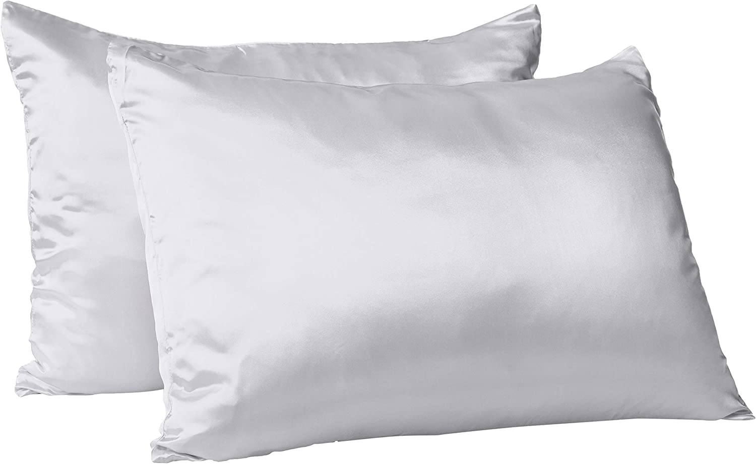 Morning Glamour 2 Pack Signature Box Pillowcases Silver Amazon Ca Home Kitchen