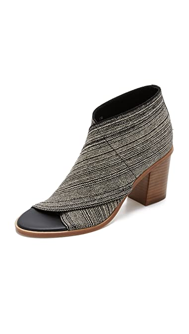 833f34f53 Amazon.com | Matt Bernson Women's Jette Open Toe Booties, White/Black, 6  B(M) US | Ankle & Bootie