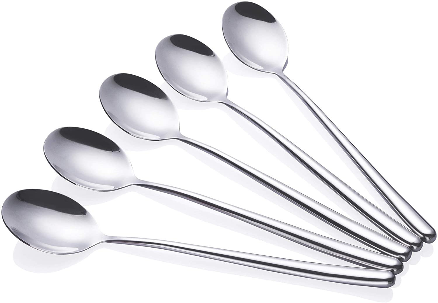 Silver Stainless Steel Chinese Large Soup Spoon Kitchen Ramen Spoons Flatware