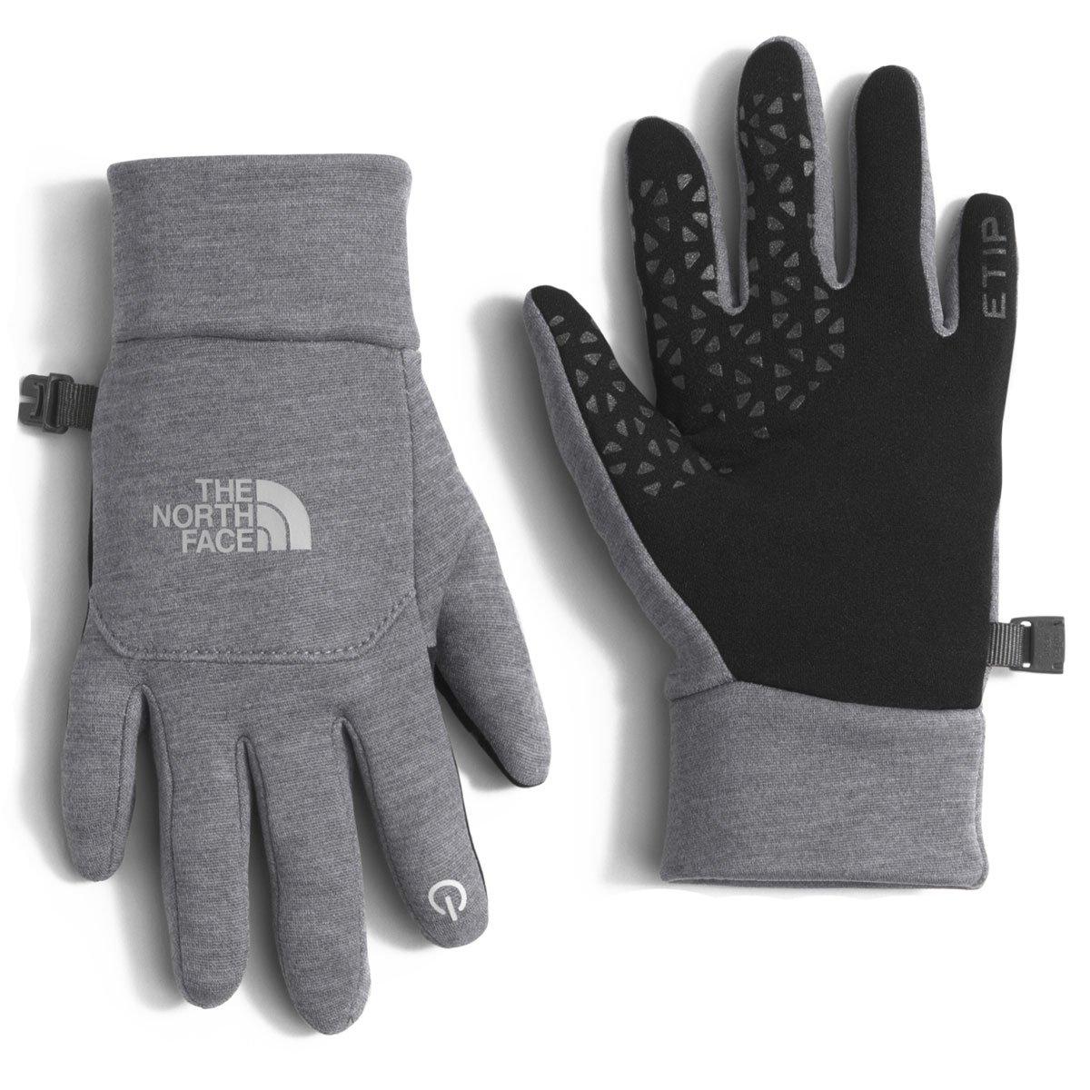 The North Face Youth Etip Glove High Rise Grey Heather Medium