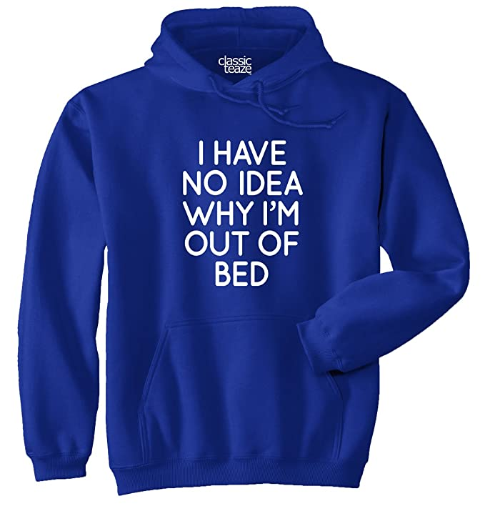 Out Of Bed Sarcastic Cute Funny Slacker Gym Hoodie