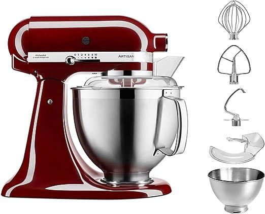 KitchenAid 5 ksm185psecm 4,8L Robot de cocina, Crimson Red, Rojo: Amazon.es: Hogar