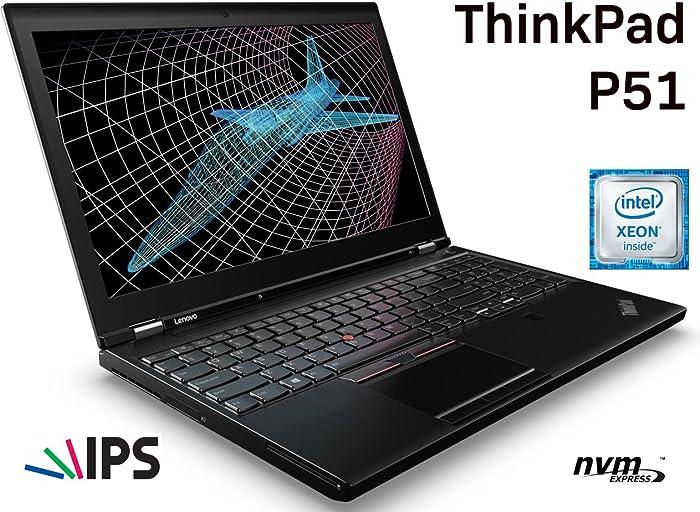 "Lenovo ThinkPad P51: 15.6"" IPS | Xeon E3-1505M v6 | 32GB RAM | 512GB PCIe NVMe M.2 SSD | NVIDIA Quadro M2200 4GB | Fingerprint | Windows 10 Pro 64-bit"