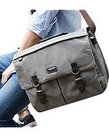 OXA Military Satchel Messenger Bag - Vintage Canvas Shoulder Bag for 15.6 Inch Laptop