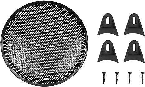 """12/"""" Black Car Vehicle Audio Speaker Woofer SubWoofer Grill Cover Protector UK."""