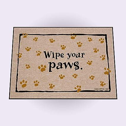 Amazoncom High Cotton Wipe Your Paws Doormat Black Indoor