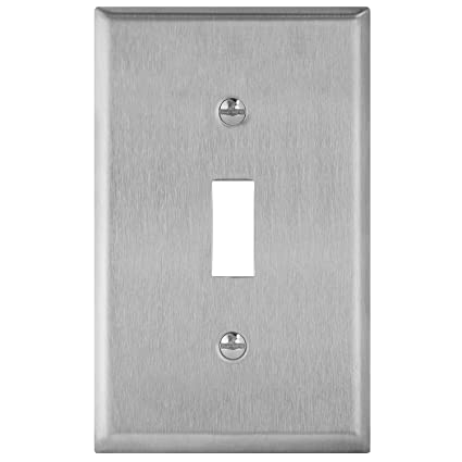 Amazon.com: Enerlites placa de pared de doble conmutador, en ...
