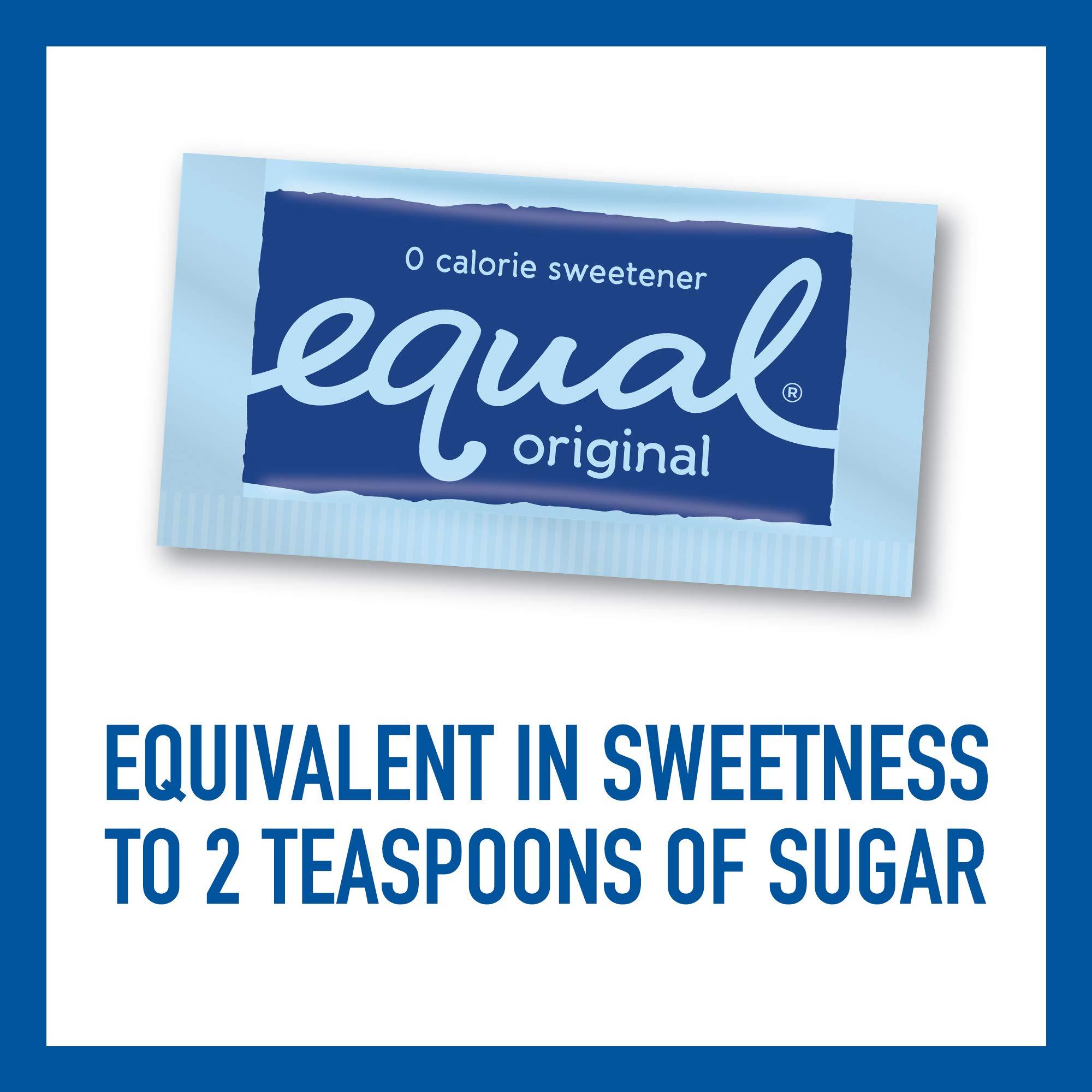 EQUAL 0 Calorie Sweetener, Sugar Substitute, Zero Calorie Sugar Alternative Sweetener Packets, Sugar Alternative, 50 Count (Pack of 12) by Equal (Image #4)